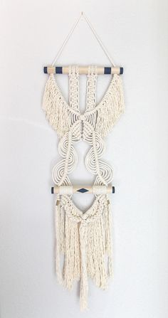 """Macrame wall hanging """"Her Wings no.2"""" HIMO ART by May Sterchi"""