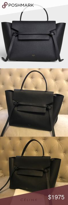 d65d5827db3f Celine Mini Belt Bag in Black Grained Calfskin MINI BELT BAG IN GRAINED  CALFSKIN WITH A