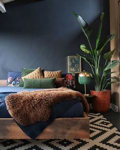A Dutch House That is Filled With Plants Art and The Colour Green Dear Designer Bohemian Bedroom Decor Art Colour Dear Designer Dutch Filled green House Plants Bedroom Green, Bedroom Colors, Home Decor Bedroom, Green Bedrooms, Bedroom Ideas, Brown Bedroom Walls, Master Bedroom, Bohemian Bedroom Decor, Master Suite