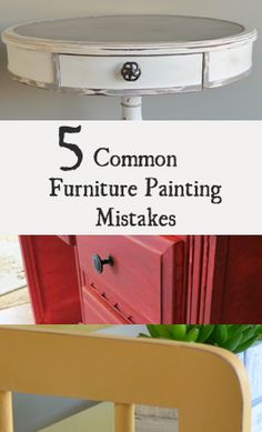 5 Common Mistakes Made When Painting Furniture. How to paint bedroom furniture! #howtopaint #bedroomfurniture #homedecor #homemakeover #dresser