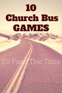 10 church bus games to pass the time