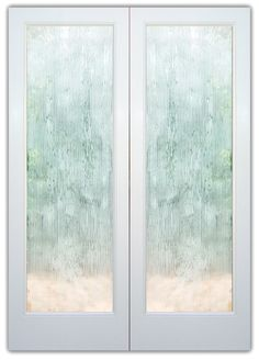 double glass doors frosted glass Contemporary Design chunky texture sans soucie rain drizzle