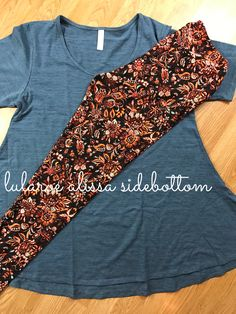 Gorgeous floral lularoe leggings paired with a perfect t