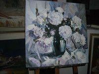 """Rosas blancas"" obra de Betty Toufar. Tenemos tantas novedades en lienzosycuadros.com"