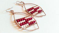 Grandi orecchini a foglia Bangles, Bracelets, Hoop Earrings, Etsy, Jewelry, Fashion, Moda, Jewlery, Bijoux