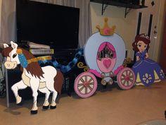 Carriage Disney Scene Birthday Decoration Sofia the First Handmade by me