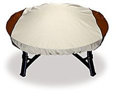 Astor Custom Fit Fire Pit Cover, Fits Round Fire Pits up to 44″ Diameter