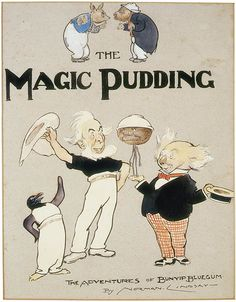 """Norman Lindsay was known to all Australians as an artist of genius and as a writer he added to his laurels, """"The Magic Pudding"""". Lindsay tells how Bunyip Blue Gum, a young Koala Bear, … Norman Lindsay, Bizarre Stories, S Stories, Classic Literature, Children's Literature, Classic Books, Vintage Children's Books, Antique Books, The Guardian"""