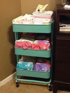 Storage for cloth diapers... this is brilliant! And I have one!
