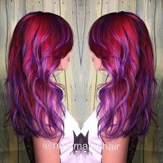 20 Photos That Prove Sunset Color Is the Most Romantic Kind of Rainbow Hair
