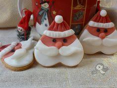 Puffin in cucina e non solo: Biscotti Babbo Natale, semplici cuori di frolla alla cannella decorati con pdz ^_^