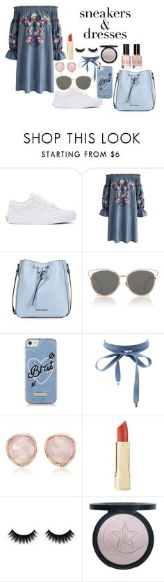 """""""Untitled #395"""" by zammit-eleanor ❤ liked on Polyvore featuring Vans, Chicwish, Armani Jeans, Christian Dior, Skinnydip, Charlotte Russe, Monica Vinader and Bobbi Brown Cosmetics"""