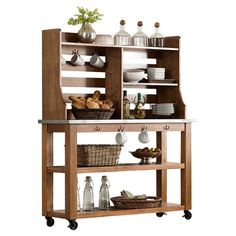 Hutch and server would work well in a farm house style kitchen.