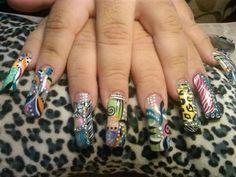 Disenos De Unas Estilo Sinaloa   ... uñas de pato, son unas uñas triangulares que se realizan con