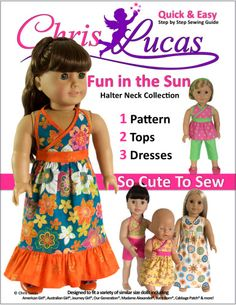 Pattern for Julie???  Fun in the Sun – Halter Neck Collection – AG Doll Sewing Pattern