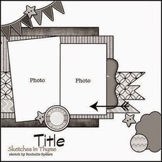 Scrapbook page layout Scrapbook Layout Sketches, Scrapbook Templates, Scrapbook Designs, Card Sketches, Scrapbook Paper Crafts, Scrapbooking Layouts, Digital Scrapbooking, Baby Scrapbook, Scrapbook Albums