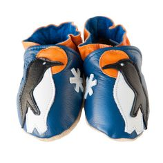 Penguin Pride baby shoes in allleather by cadeandco on Etsy, $34.00