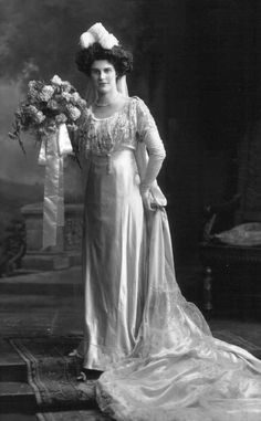 Mary, Countess of Clancarty in Court Dress  Lafayette  1911