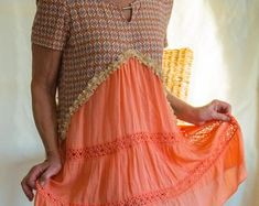 Upcycled vintage bohemian style clothing for women by Latest Outfits, Cool Outfits, Fashion Outfits, Upcycled Vintage, Vintage Bohemian, Plus Size Work, Bohemian Style Clothing, Women Wear, Clothes For Women