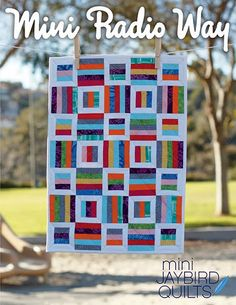 MINI Radio Way quilt pattern wall hanging from Jaybird Quilts