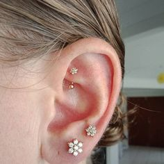 Spiderbite Piercings, Cartilage Piercing Stud, Faux Piercing, Ear Peircings, Cartilage Earrings, Double Cartilage, Rook And Conch Piercing, Tattoo, Piercing Tattoo