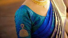 15 Inspiring Minimal Work Blouse to try - Wedandbeyond Stone Work Blouse, Hand Work Blouse Design, Simple Blouse Designs, Stylish Blouse Design, Designer Blouse Patterns, Fancy Blouse Designs, Kerala Saree Blouse Designs, Wedding Saree Blouse Designs, Saree Blouse Neck Designs