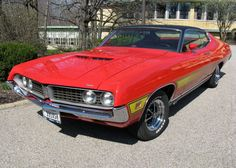 1971 Ford Torino GT SportsRoof for sale by Affordable Classics Motorcars. Our classic cars for sale are unique high quality cars you will be proud to own. Classic Hot Rod, Old Classic Cars, Mercury Cars, Ford Torino, Muscle Cars, Cars For Sale, Cool Cars, Dream Cars, Mustang