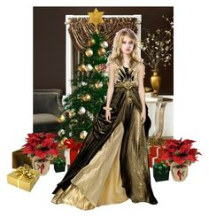 """""""Elegance at Christmas"""" by gabriele-bernhard ❤ liked on Polyvore featuring art"""