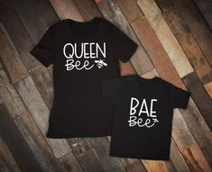Excited to share the latest addition to my shop: Mommy and Me Shirts & Matching Shirts & Queen Bee Shirt & Mom and Toddler Shirts & Bee Shirt & Bae The post Mommy and Me Shirts Mom And Me Shirts, Baby Shirts, Kids Shirts, Onesies, Sibling Shirts, Family Shirts, Mommy And Me Outfits, Mommy And Me Clothing, Family Outfits