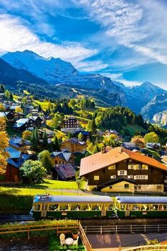 Wengan, in the heart of the Swizz Alps, Switzerland.