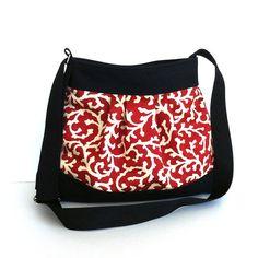 Vegan messenger bag , shoulder bag , cotton cross body tote bag , women cross over bag in burnt orange