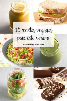 10 recetas veganas sencillas y refrescantes para este verano. Son muy fáciles de preparar y están para chuparse los dedos.
