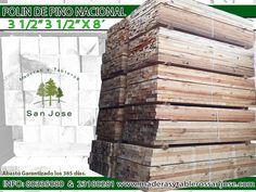 #Polin de #Pino #Nacional  3 1/2 x 3 1/2 x 8 info: (0181) 23180281  & 80335080 www.maderasytablerossanjose.com Le garantizamos el abasto los 365 dias del año.