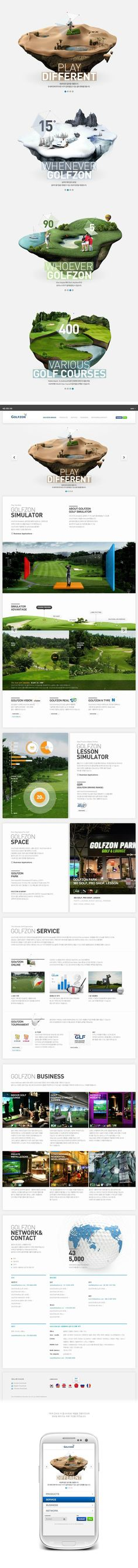 GolfZone Global Website Design by Plus X , via Behance