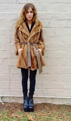 classic ladylike honey blonde MINK fur by AlexAndAftonVintedge