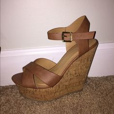 BRAND NEW Cognac Wedges Size 10 From boutique K-La- Charlotte NC ...