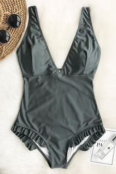 8783fefaec05a Swimwear   Beachwear for Women   Picture Description New Arrivals! Pick up  this chic fantastic beach wear~ It features hot deep v-neck   cute ruffles  at ...
