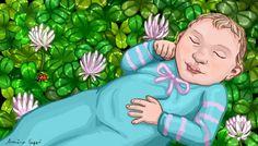 Hoksotin | A free digital jigsaw puzzle of a baby on clovers / Ilmainen digitaalinen palapeli vauvasta apiloiden päällä