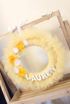 I would make this a pink tutu wreath for front door