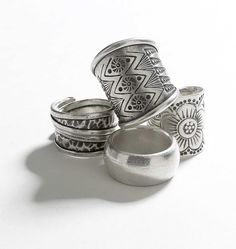 Suzannah Rose | Booth 630 | February 2014 http://www.suzannahrose.com/ http://www.sfigf.com/ Sterling silver tribal rings