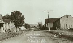Street Scene at Lincoln New Mexico. Early 80's (1880's) Photographer is A.J. Hudson
