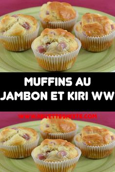 Muffins au Jambon et Kiri WW No Salt Recipes, Ww Recipes, Batch Cooking, Cooking Time, Weigh Watchers, Brunch, Light Cakes, Cake Factory, Yummy Food