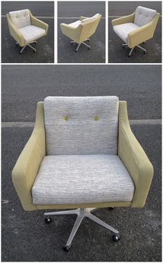 This is one of my favourite chairs of 2013. When I found it, the fabric was tired and in need of a sprucing up. I chose a vintage oatmeal tweed with a modern olive green fabric to give the chair a contemporary twist. Hats off to the lads down at the upholstery shop, they did a cracking job.  Se  this beauty for the first time at this Sunday's Dublin Flea.  POA retrorumage@gmail.com