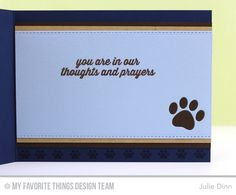 Pet Sympathy - Inside Card by Julie Dinn