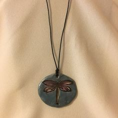 Hand Crafted Polymer Clay Dragonfly in Blues by DesignsByLyndseyCo