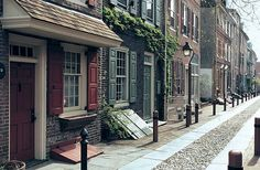 Ellfreth's Alley, Philadelphia, Pennsylvania... every time I walk down this alley... I imagine Betsy Ross sewing the flag... I see it on her lap.... the 13 stars and stripes.