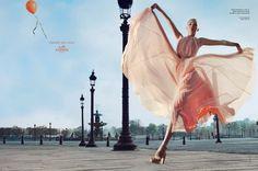 Hermes - Gemma Ward - 2006SS - ad  campaign -  fashion ads  quintessential jump shot!