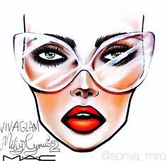 "MAC Face Chart ""Miley Cyrus Viva Glam 2"""
