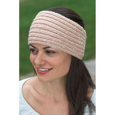 Ribbed Headband in Plymouth Encore Worsted - F426