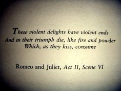 I have suddenly developed an obsession with Romeo and Juliet